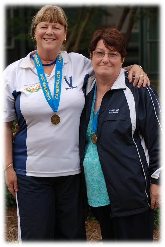 Lyn Budge (right) with fellow recipient Mary Bawden