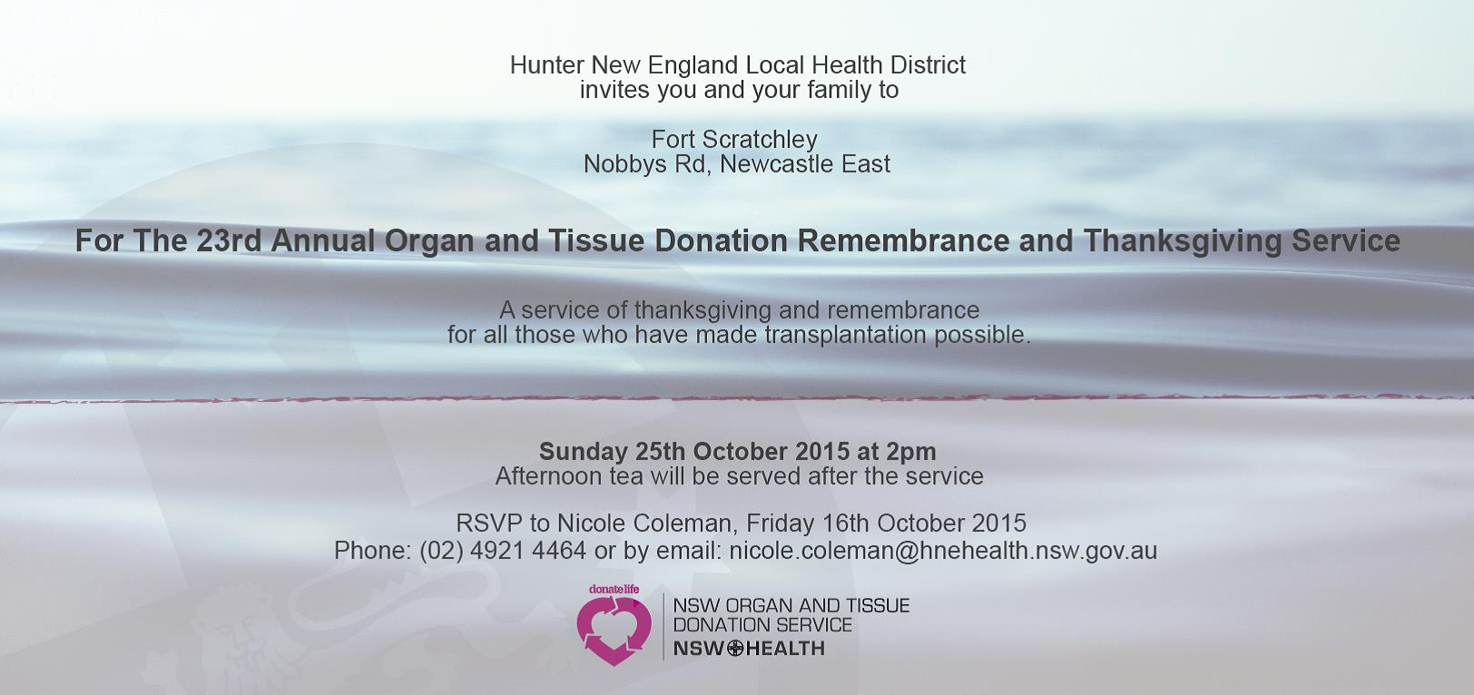 Remembrance and thanks giving service-details