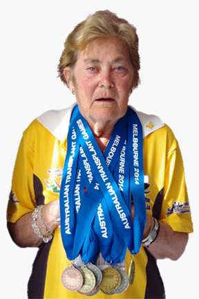 Audrey Wood with Medals