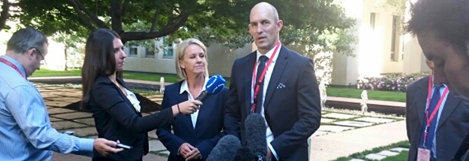 Transplant Australia Chairman, Jason Ryan, talks to the media following the review findings being released.