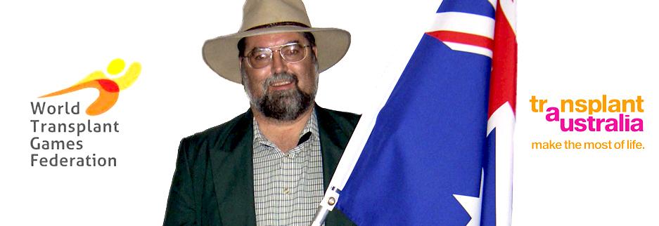 Antony Harding will be the flag bearer for Australia going into the World Transplant Games.