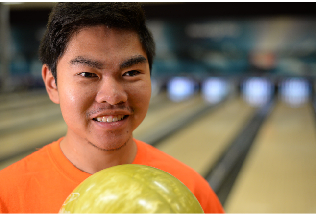 Andrew Vien - bowling player at the Games.