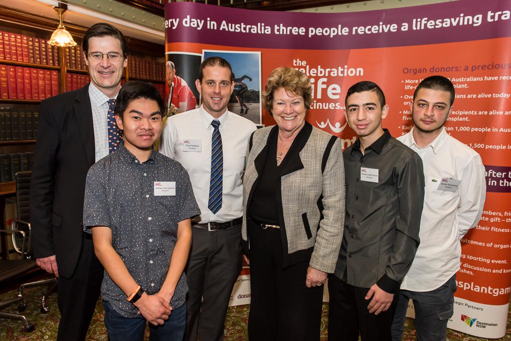 Jonathan O'Dea, MP; Andrew Vien; The Hon. Jillian Skinner, MP; Paul Hudson; Mohammad Farran and Daniel Germanos at the launch of Gifted