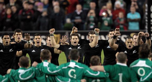 The New Zealand All Blacks perform the Haka. Mandatory Credit ©INPHO/Morgan Treacy