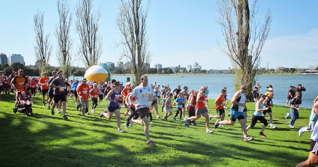 The Fun Run in full flight at the last Australian Transplant Games