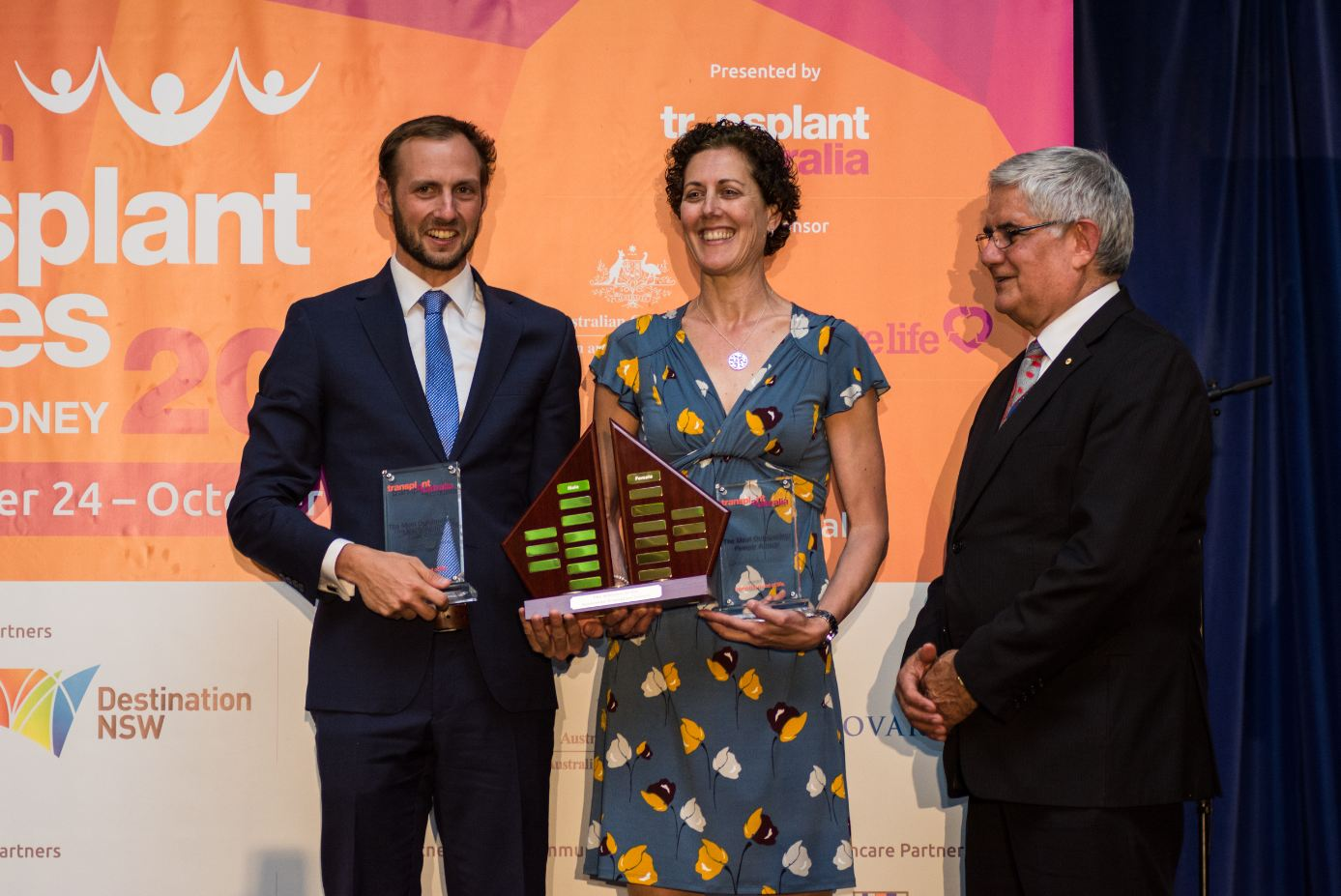 Monty Summers and Michelle Daley with Assistant Health Minister, the Hon. Ken Wyatt, after being named Most Outstanding Male & Female Athletes of ATG2016