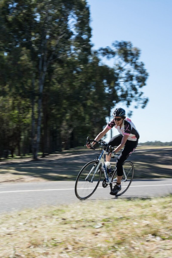 Michelle competing in the 30km Road Race at the Australian Transplant Games in Western Sydney