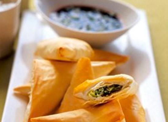 Asian Green triangles recipe