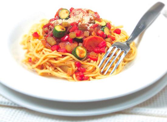 fast vegie spaghetti