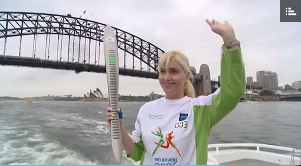 The baton on it's way through Sydney during the lead-up to the 2006 Commonwealth Games in Melbourne