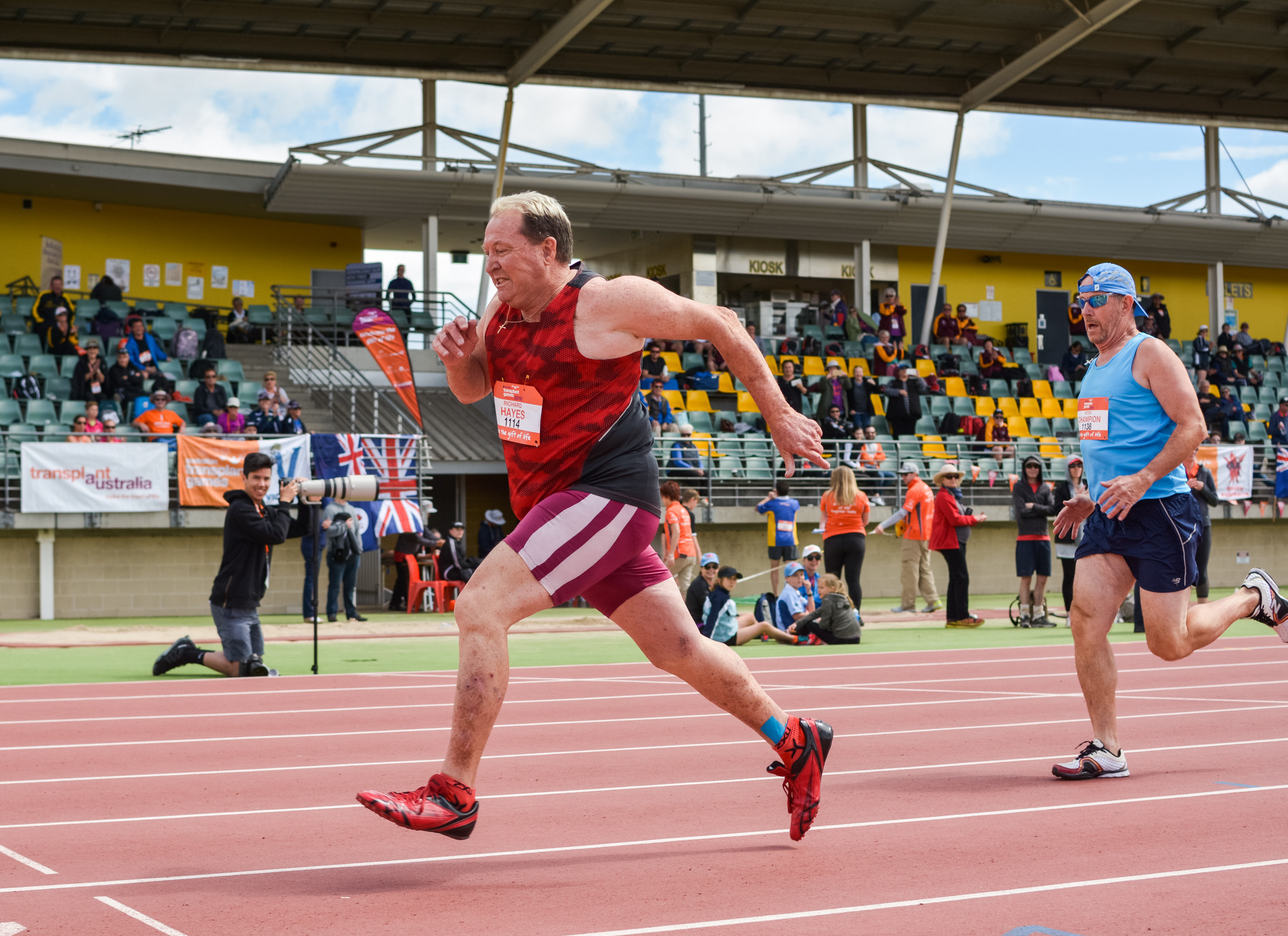 Richard Hayes at the Australian Transplant Games in 2016