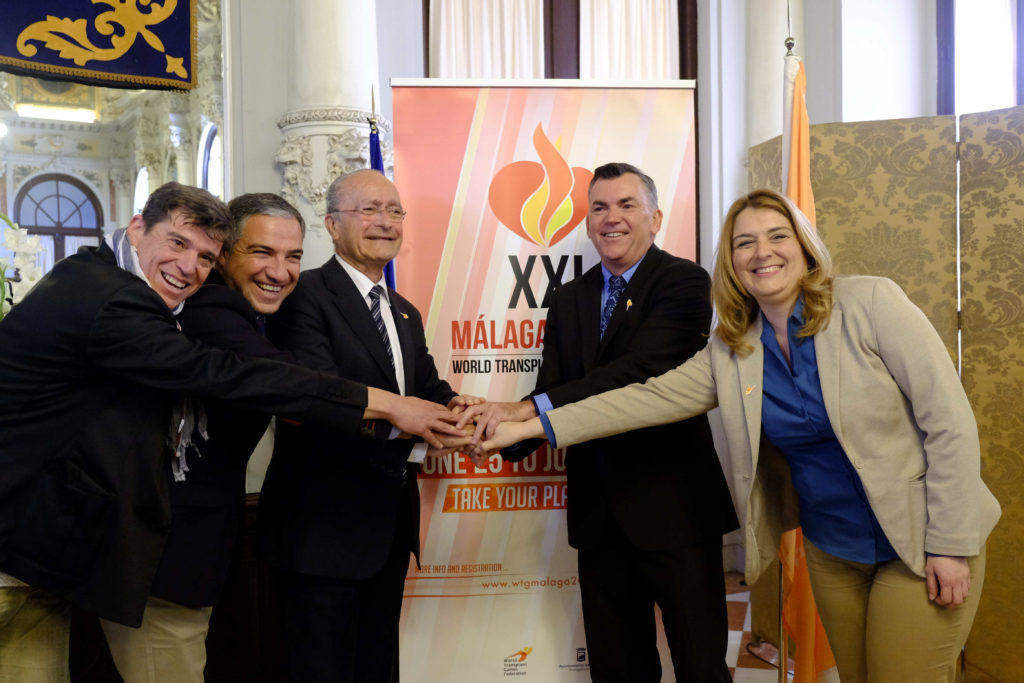 Transplant Australia CEO Chris Thomas (second from right) meeting with officials in Málaga in lead-up to June
